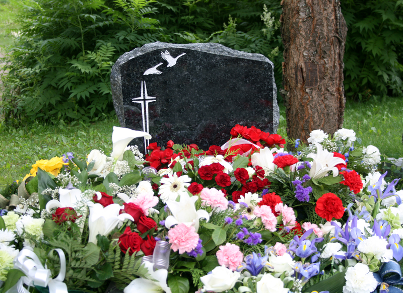 Flowers on a grave