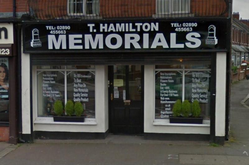 hamiltons shopfront
